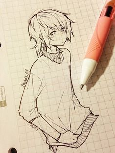 anime drawing - 55 Beautiful Anime Drawings <3 !
