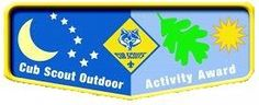 Tiger Cubs, Wolf and Bear Cub Scouts, and Webelos Scouts have the opportunity to earn the Cub Scout Outdoor Activity Award