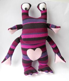 cute monster plush stuffed monster doll by TreacherCreatures