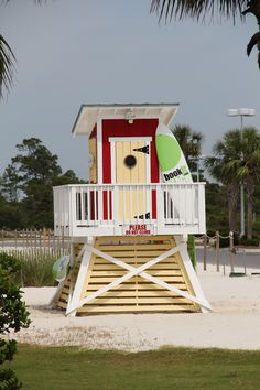 Life Guard Stand...this would make a cute changing area for my pool!!  hint hint