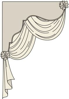 Corner cornice Lambrequin w/ Overlapping Swags Window Cornices, Window Coverings, Window Treatments, Curtains And Draperies, Drapes Curtains, Valances, Cornice Boards, Drapery Designs, Pelmets