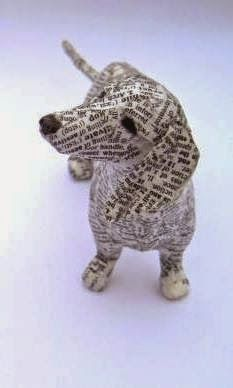 Paper Mache Projects, Paper Mache Clay, Paper Mache Crafts, Quilling Paper Craft, Paper Clay, Cardboard Sculpture, Paper Mache Sculpture, Dog Sculpture, Animal Sculptures