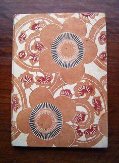 Vintage 1960's Mingei Handmade Paper Washi Stationary Set    Living National Treasure, Master Paper Maker, Abe Eishiro (1903 – 1985 )  Stationary set