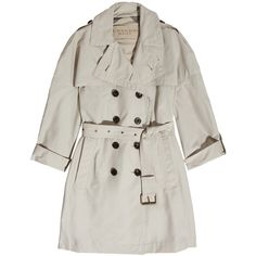 Burberry Brit Cotton-blend trench coat found on Polyvore