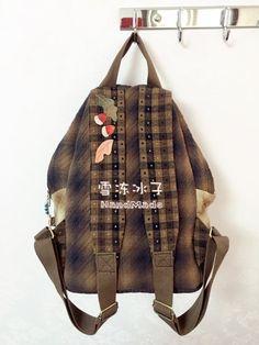 【雪冻冰子·素儿24期团作】猫头鹰双肩包 Owl Backpack, Quilt Bag, Backpacks, Quilts, Embroidery, Sewing, Diy, Bags, Fashion
