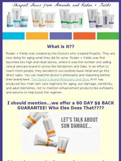 "Check out my personalized ""Skinpact"" newsletter with more information about this awesome part time business with Rodan + Fields and their clinically proven products! I've included my very own before and after pics!"