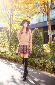 All Korean Fashion items up to 60%OFF! (Sale ends 2nd Nov, 2014) Bongjashop - Shirred Floral Print Miniskirt #miniskirt #shirredminiskirt #floralprintminiskirt