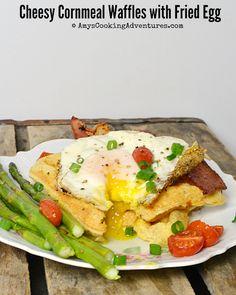 ... Adventures: Cheesy Cornmeal Waffles with Fried Eggs #SecretRecipeClub