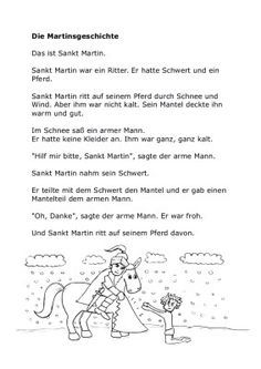 Sankt Martin Geschichte, Lieder, und Ausmalbilder | Kindersuppe ...