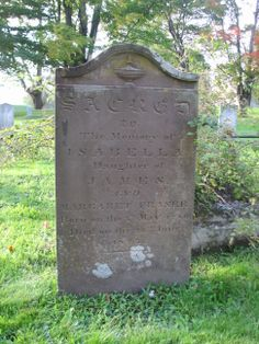 SACRED to the memory of ISABELLA Daughter of James and Margaret Fraser Born on the 5th May 1780 Died on 26th June 1827