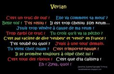 exemples verlan - Google Search