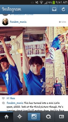 New pictures of colin morgan parkour training for his rol of Ariel in the #Tempest
