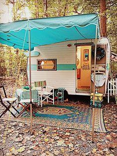 Camper Awnings – Locations To Camp Vintage Campers Trailers, Retro Campers, Vintage Caravans, Camper Trailers, Vintage Motorhome, Build A Camper, Diy Camper, Camper Van, Camper Ideas