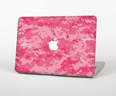 """The Pink Digital Camouflage Skin Set for the Apple MacBook Pro 15"""" with Retina Display from Design Skinz"""