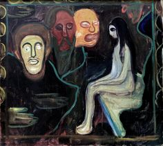 https://flic.kr/p/TCACUp | Edvard Munch - Girl and Three Men's Heads [1895-98] | [Kunsthalle Bremen - Oil on canvas, 90 x 100 cm]