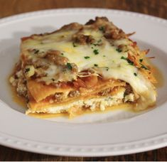 Delicious Lasagna made with Sweet potato instead of noodles! This dish is packed with Cottage cheese and Italian sausage. Yummm