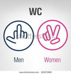 Men and women WC icons.