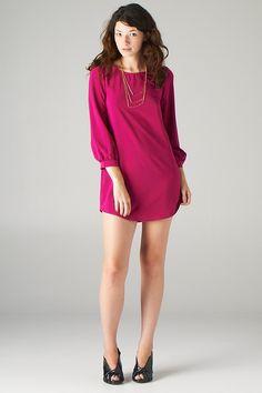 Lavishville - Long Sleeve Shift Mini Dress (Magenta), $25.00 (http://www.lavishville.com/long-sleeve-shift-mini-dress-magenta/)