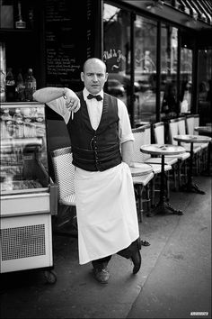 The Parisian Waiter #2 by Sebastien MANOURY, via 500px