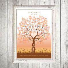 entwined fingerprint guest book tree