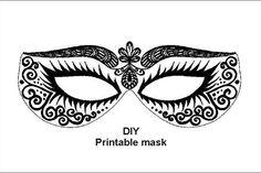Masks Masquerade Mask carnival mask printable от evascreation