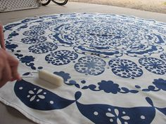 Turning A Table Cloth In To A Rug: A DIY Anthropologie Rug | Dream Book Design: Turning A Table Cloth In To A Rug: A DIY Anthropologie Rug