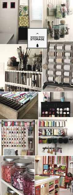 Sewing room storage and organization ideas..