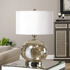 """Found it at Wayfair - Piadena 27"""" H Table Lamp with Drum Shade"""