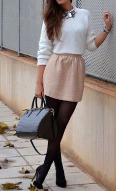 Sexy Winter Skirt Outfit Ideas (41)