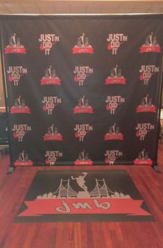 Let us help you create your own personalized Step & Repeat Banner with your logo! Great for photo ops at parties, grand openings, to promote your business and much more. #dreamscenesinc #stepandrepeat #vinylbanner #backdrop #background #photoop #logo #floordecal