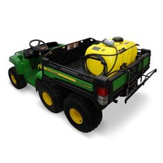 """John Deere 25 Gallon Poly Bed Gator Sprayer (LP33597) at Mutton Power Equipment.  It provides an excellent way to apply spray materials such as liquid fertilizer, weed killer, tree spray and de-icer. It comes complete with a 43"""" boom that sprays a 120"""" swath. It's equipped with a 19-foot hose and a spray wand for spot spraying lawns, shrubs, trees, etc .The fully adjustable brass spray wand tip achieves streams up to 30 feet..."""