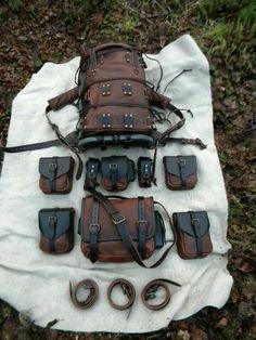 """ Behemoth "" leather bushcraft pack by Ryan Townsend @ www.deepwoodsleather.com or Deepwood Handcraft on facebook #bushcraftkitideas"
