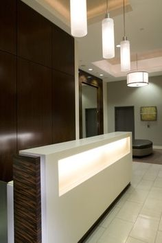 Modern Home Reception Desk Design Ideas, Pictures, Remodel, and Decor