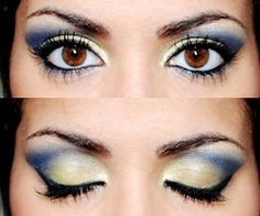 Blue Green Eyeshadow by Poly.Perv