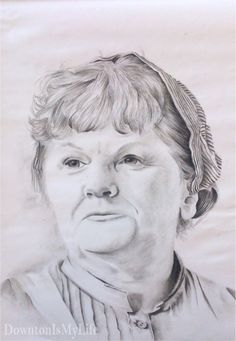 Beryl Patmore - Drawn with charcoal pencils