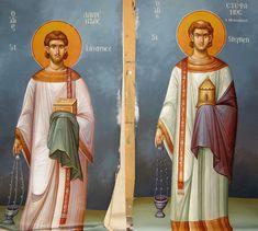 Saint Anthony Church, Byzantine Icons, Orthodox Icons, Nashville Tennessee, Fresco, Holi, Disney Characters, Fictional Characters, Aurora Sleeping Beauty