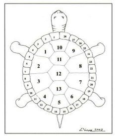 Why do we call USA Turtle Island? Here is a lunar diagram of a turtle's shell: thirteen moons on top center, surrounded by 28 days. Indigenous people worldwide, including the Cherokee, have used the turtle to keep track of time and to represent the mother earth crust upon which we live and gain our sustenance.