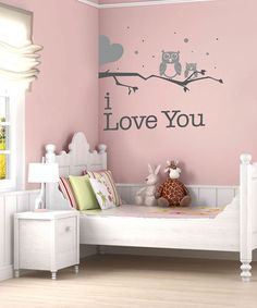 sissy little gray owl i love you wall decal