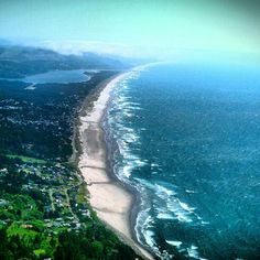 Nehalem Bay, Oregon; view from Neahkanie Mountain~hiked up to this view years ago with Kyle:) good times!