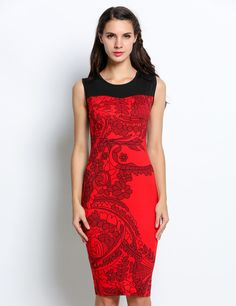 Ladies Fitted Formal Ladies Pencil Bodycon Going Out Dress