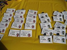 Make everyone an ID badge and fingerprint them. Kiddie Soiree: Detective Birthday Party
