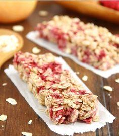 Chewy Raspberry Apple Granola Bars | HealthShoot