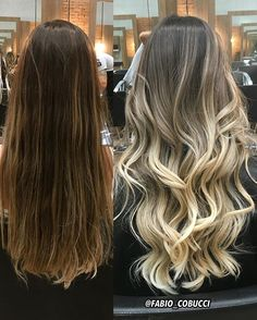 The ombre hair trend has been seducing for some seasons now. More discreet than tie and dye, less classic than sweeping, this new technique of hair. Brown Hair Balayage, Brown Blonde Hair, Hair Color Balayage, Bayalage, Gorgeous Hair Color, Cool Hair Color, Hombre Hair, Cabelo Ombre Hair, Blonde Haircuts