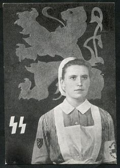 "Belgium WW2 ""Waffen-SS Flemish Legion Red Cross recruiting"" Nazi Propaganda, German Stamps, Ww2 Posters, Vintage Nurse, German Women, Female Soldier, Red Cross, Women In History, World War Two"