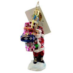 Christopher Radko Last Minute Shopper Gem Glass Ornament - Story Book Kids