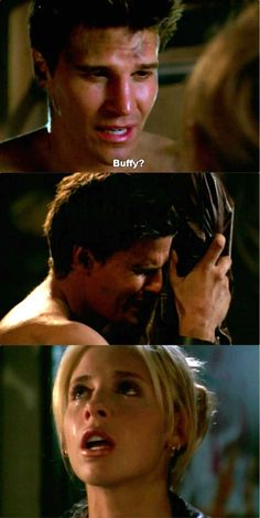 Buffy and Angel that Scene made me cry just looking at the pic I'm crying
