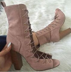7ece0e4fc24d8 Sestito New Fashion 2018 Woman Peep Toe Lace-up Gladiator Sandals Boots  Ladies Chunky Heels Ankle Strap Boots Girls Ankle Boots