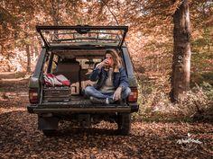 In dem Auto kann man entspannt eine Pause machen. Range Rover Classic in der Pendleton Edition von Waldfrieden State.  Waldfriedenstate.com