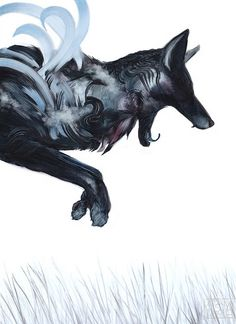 Adam S. Doyle's oil paintings of animals and fantasy creatures emphasize the physicality of his medium. He appears to paint entire realistic creatures using just a few pronounced strokes, evo… Narnia, Animal Paintings, Animal Drawings, Fox Painting, Fanart, Artwork Images, Animal Totems, Pretty Art, Fantasy Creatures