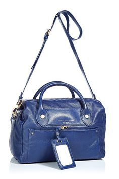 MARC BY MARC JACOBS  Prussian Blue Preppy Leather Bag Pearl